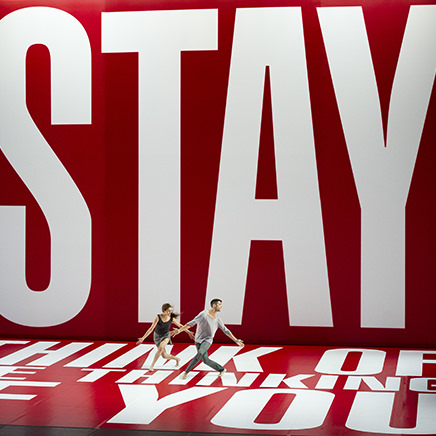 Benjamin Millepied and Barbara Kruger at Studio des Acacias