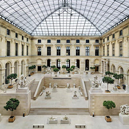 Louis Vuitton holds its first catwalk show at the Louvre